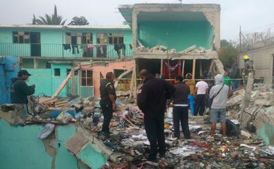 El lugar fue resguardado por agentes de la Comisión Estatal de Seguridad Ciudadana debido a que continúan las labores personal de la Fiscalía General de Justicia y de Protección Civil del Estado de México y de la Cruz Roja.