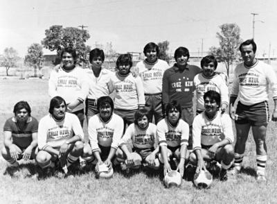 05032017 Equipo de futbol Cruz Azul Col. Ana en 1984: Fernando Ramírez, Ricardo Rivera (f), Juan Soriano (f), Sergio Valdez, Agapito Pérez, Armando Meza (f), Jorge Salazar, Roberto Olivares, Víctor Soriano, Juan Sánchez, José Luis Soriano y Daniel Araiza (f).