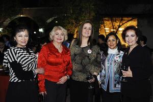 07032017 Luly de Riquelme, Tere Venegas, Lupita Richards, Zulema Contreras e Ivonne Escalera.