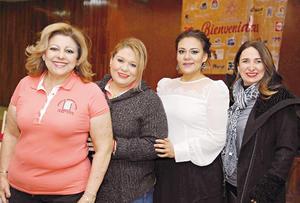 08032017 MUY CONTENTAS.  María de Lourdes, Emma, Sanjuana y Maribel.