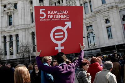 En Madrid también se sumaron a las conmemoraciones.