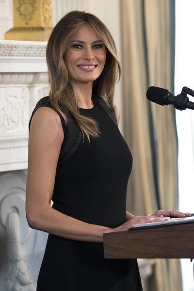 Se le pidió a los periodistas abandonar el salón cuando la primera dama iba a comenzar su discurso.