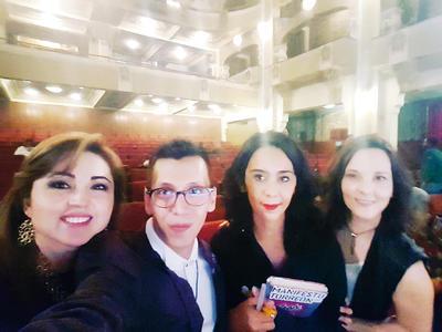 09032017 Cynthia Rodríguez, Pineda Damián, Marcela Castillo y Paulina Delgado.