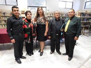 12032017 Abraham Campos, María de Lourdes Madrigal, Blanca Domínguez, Rubén Rodríguez y Gustavo Guerrero.