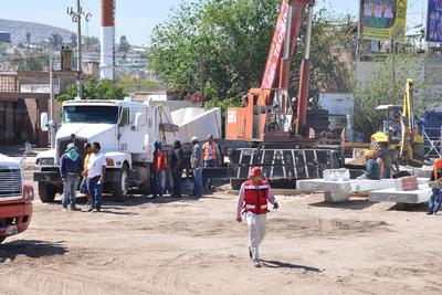Pablo Ramírez Ortega, director de Construcción de Obras Públicas, informó que las maniobras comenzaron ayer lunes y se pretende terminarlas durante una semana.