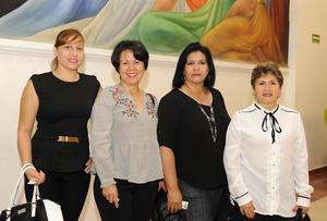 14032017 Claudia Haro, Marcela Emer, Norma Morales e Idalia Haro.