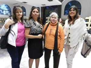 15032017 VELADA LITERARIA.  María Enriqueta Flores, Fita Priego, Blanca Domínguez y Edith González.
