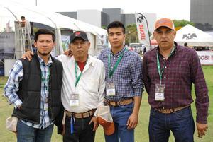 Julio Sánchez, Romulo Bonilla, Oswaldo Covarrubias y Víctor Fourcans