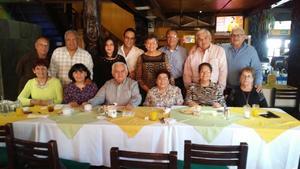 18032017 CELEBRA SU CUMPLEAñOS.  Jorge Rivera cumplió 77 años de vida, por lo que lo festejó con un desayuno en conocido restaurante de la ciudad.