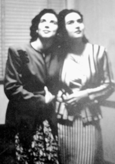 19032017 Laura Graciela y Blanca María Bermeo, en 1946.