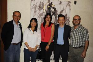 25032017 Federico Ehrtnzweig, Aída Chamut, Elizabeth Espinoza, Carlos Álvarez y Sergio Pérez.