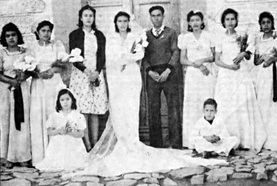 26032017 Sra. María Inés Ceniceros González y Sr. Federico López Quiñones el día de su boda en enero de 1942.
