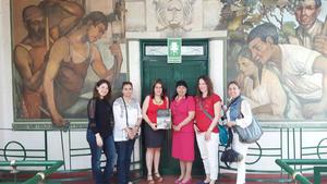 27032017 EN EL INSTITUTO 18 DE MARZO.  Gaby, Celina, Idoia, Tere, Claudia y Bárbara.