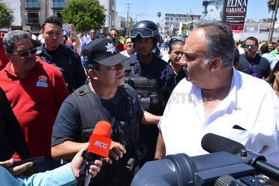 Al lugar arribó Adelaido Flores, titular de la DSPM.