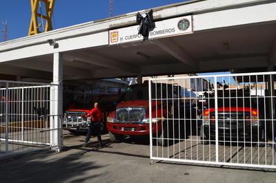 Así luce la fachada de la Estación Centro del Cuerpo de Bomberos de Torreón.