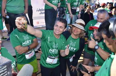 Siguiendo con su campaña, Mery realizó una carrera en la Línea Verde.