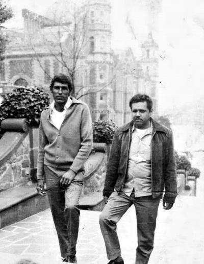 02042017 Hermanos José y Matías Morán en una visita a la Basílica de Guadalupe en la Ciudad de México en 1972.