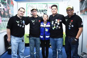 02042017 Héctor, Guillermo, Paula, Kal-el y Uriel.