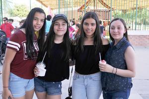 04042017 Andrea, Sofía, Sofía y Nazle.