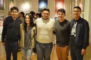 06042017 BIENAL DE CARTEL.  Fernando, Jaqueline, Alejandro, Hugo y Juan José.