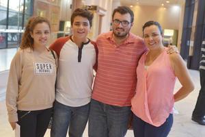 07042017 ENCUENTRO REGIONAL DE TEATRO.  Andrea, Diego, Esteban y Chery.