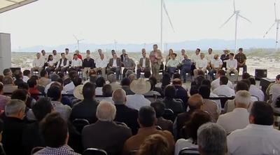 """""""Coahuila se incorpora activamente a la transición hacia las energías limpias y la mitigación del cambio climático"""", resaltó el secretario."""