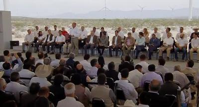 Rubén Moreira agradeció las inversiones que, dijo, se han generado con la Reforma Energética.