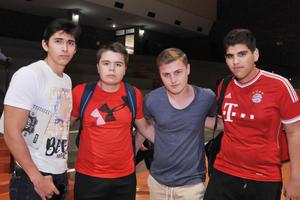 08042017 Pablo, Jesús, Rodrigo y Guillermo.