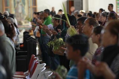 En las iglesias se programaron actividades de manera independiente, siendo las más concurridas las de la Zona Centro de la ciudad.