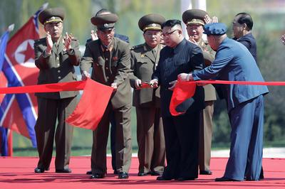 Kim Jong-Un cortó el listón inaugural.