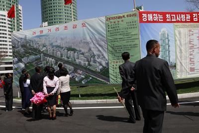 Se inauguró un nuevo distrito residencial de rascacielos.