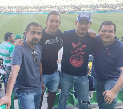 13042017 Christian Giacomán, Aarón y Armando Arredondo, Héctor Giacomán.