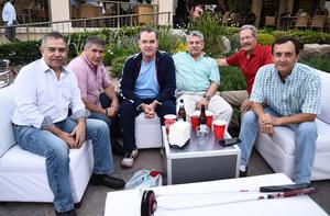 14042017 Rodolfo, Héctor, Rogelio, Iñaqui, Gerardo y Héctor.