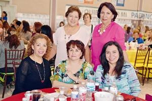 16042017 CONVIVEN.  Leticia, Lupita, Martha, Coco y Elba.