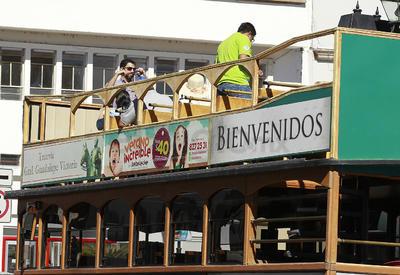 """Los recorridos en """"tranvía"""" tuvieron, en su mayoría, a paseantes locales como sus principales clientes."""