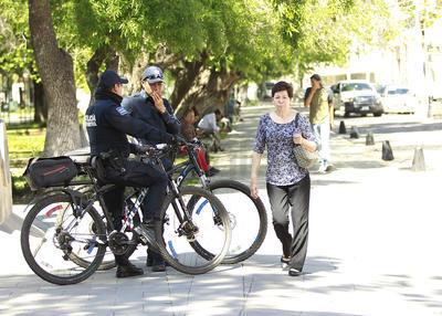 Los agentes preventivos pusieron énfasis en Las Alamedas, ante la ocurrencia común de actos vandálicos.