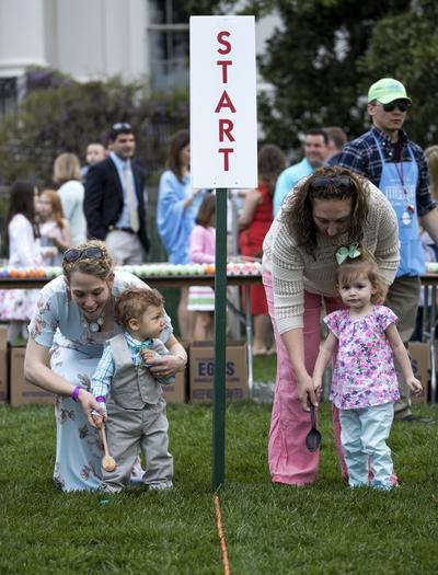 Este año, la mansión presidencial puso a disposición de sus invitados 18,000 huevos de Pascua.