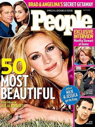 Portada de revista People en 2005.