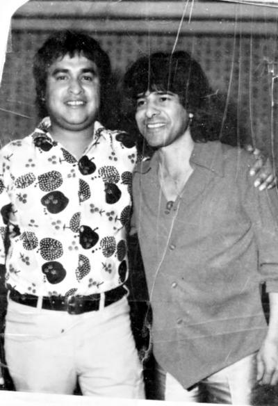 23042017 Jaime Montoya y Rigo Tovar en el Casino Leonístico en 1980.