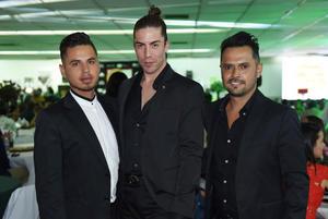 23042017 Edgar Aguilera, Alejandro González y Sergio Ramírez.