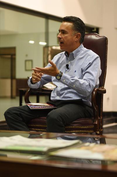 """Anaya Llamas es candidato a la gubernatura de Coahuila por la coalición """"Alianza Ciudadana por Coahuila"""", conformada por los partidos PAN-UDC-PES-PPC."""