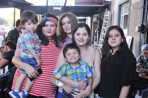 25042017 Leo, Frida, Eva, Natalia, Ángela y Elías.