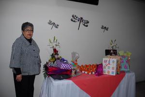 25042017 FESTEJA 70 AñOS.  Olga Lozano Ríos en su celebración de cumpleaños.