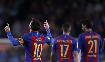 El club azulgrana encaramarse en solitario en todo lo alto de la clasificación de la liga española.