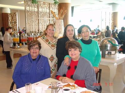 27042017 Suse María, Lupita, Guty, Rosario y Blanca.