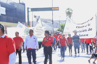 Protestaron contra las reformas estructurales.