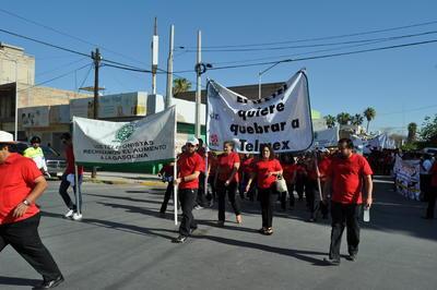 Como cada año, se realizó una marcha por el Día del Trabajo en Torreón.
