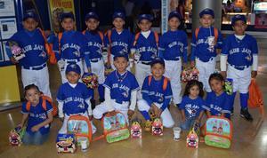 04052017 Integrantes del equipo infantil de beisbol.