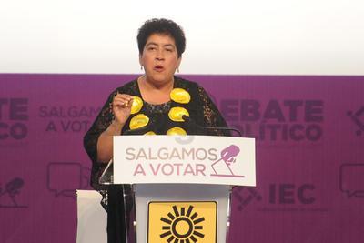 La candidata del PRD, Mary Telma Guajardo enfatizó que garantizara las cuentas patrimoniales de los servidores públicos, así como subir a la red todas las facturas de los gastos efectuados en el estado.
