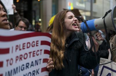 """Barbara Good, residente de Manhattan, dijo que """"si no se logra cambiar nada, sigue siendo una fuerza para el bien"""", subrayó."""